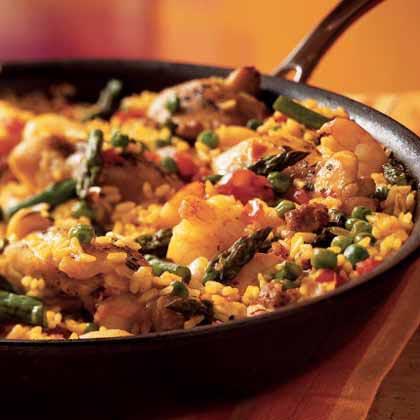Chicken and Shrimp Paella Recipe | MyRecipes
