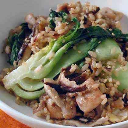 Chicken Fried Rice with Bok Choy Recipe | MyRecipes