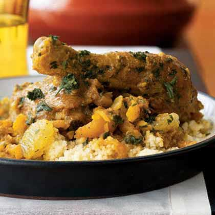 Chicken, Date, and Apricot Tagine