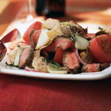 Sourdough Panzanella with Grilled Flank Steak Recipe