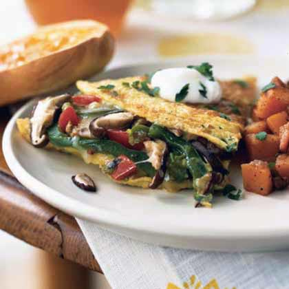 Mushroom and Bell Pepper Omelet with Fontina Recipe ...