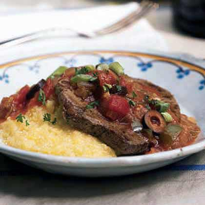 Grillades and Gravy over Grits Recipe | MyRecipes.com