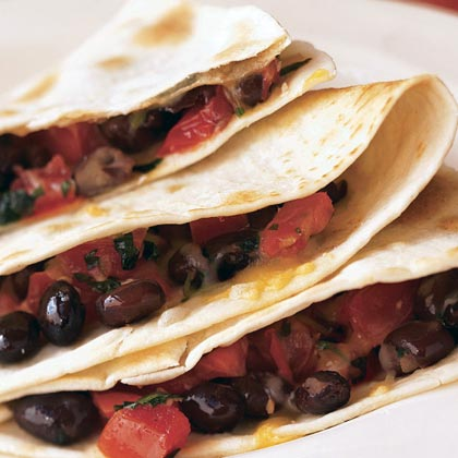Black Bean Quesadillas with Corn Salsa