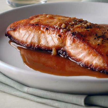 Salmon with Sweet-and-Sour Pan SauceRecipe