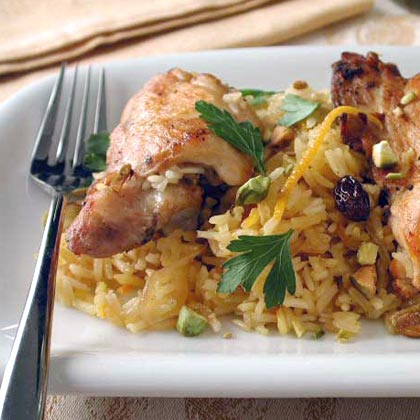 Shireen Palow (Afghan Orange Rice with Chicken)Recipe