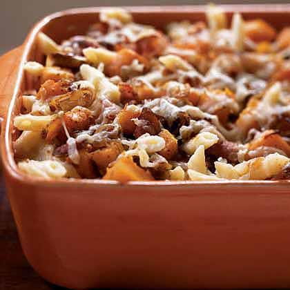 Recipe for butternut squash pasta bake