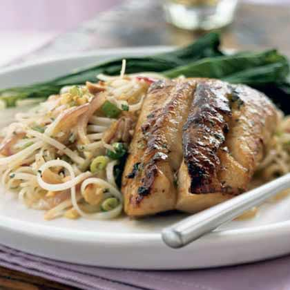 Striped bass pancetta recipe