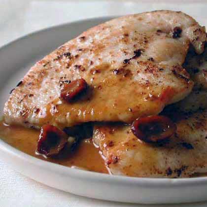 Sautéed Turkey Cutlets with Orange-Cranberry Pan Sauce