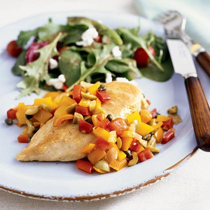 Chicken with Pepper Relish