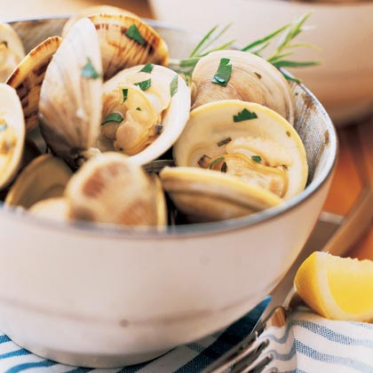 Steamed Clams or Mussels in Seasoned Broth Recipe