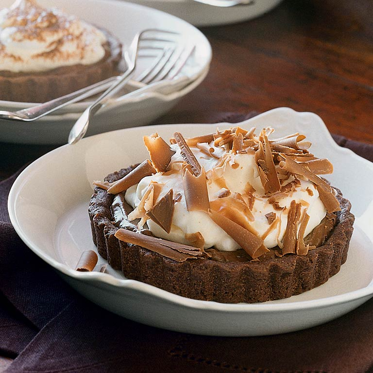 Chocolate-Banana Cream Tartlets Recipe
