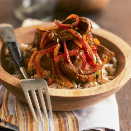 Mexican Flank Steak with Brown Rice Recipe