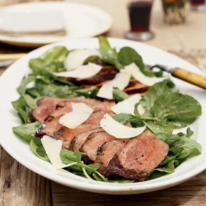 Grilled Steak on Arugula