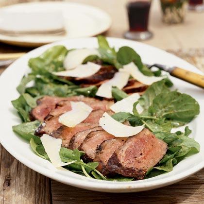 Grilled Steak on Arugula