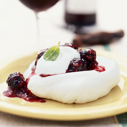 Blackberry Meringues