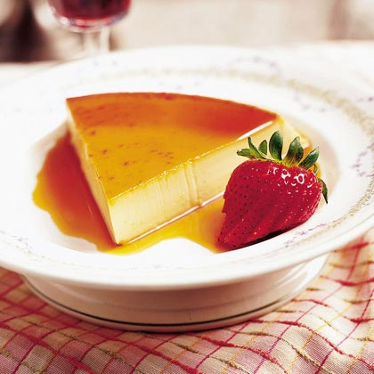Citrus-scented Port Flan
