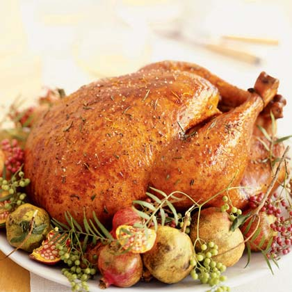 Ojai Roast Turkey with Rosemary, Lemon, & Garlic Recipe | MyRecipes