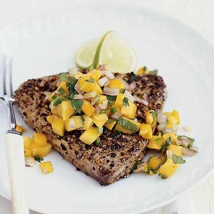 Seared Tuna with Papaya Salsa