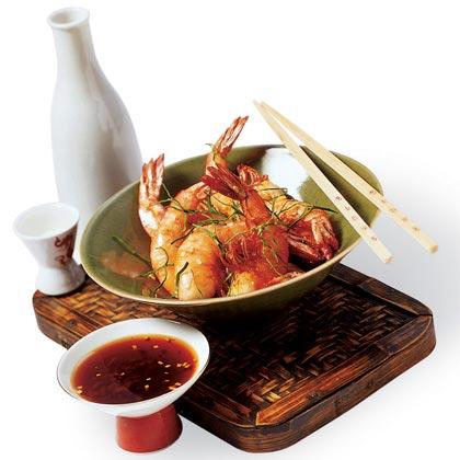 Crunchy Salt Shrimp with Ginger Sauce