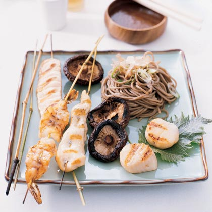 Grilled Seafood or Chicken Skewers