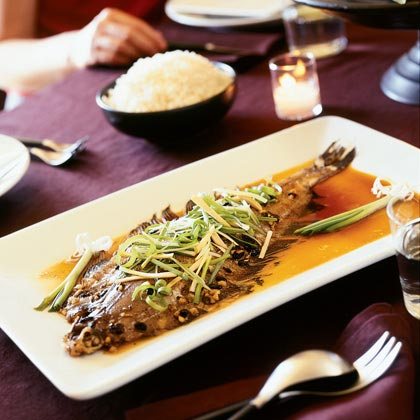 Steamed Sole with Black Bean Sauce (Dul See Zing Tat Sa Yu)