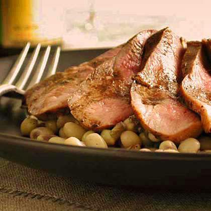 Sautéed Duck Breast with Peas Recipe
