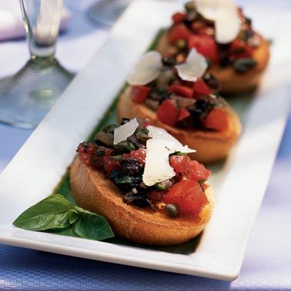 Mushroom and Parmigiano BruschettaRecipe