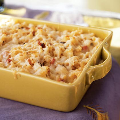 Spaetzle Baked with Ham and GruyèreRecipe