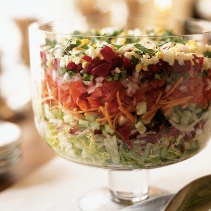 Passover Chopped Layered Salad Recipe