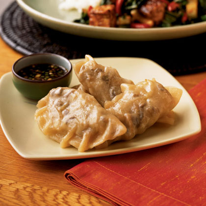 Vegetarian Gyoza with Spicy Dipping Sauce Recipe