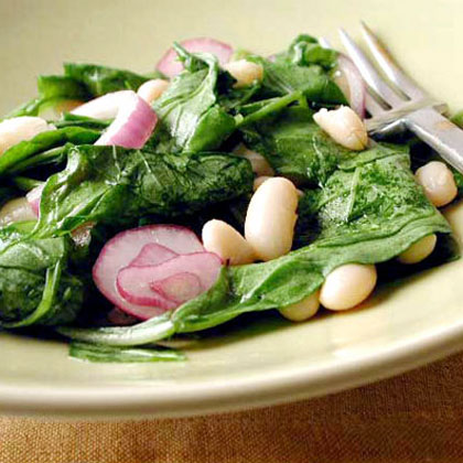 Tuscan Bean and Wilted Arugula SaladRecipe