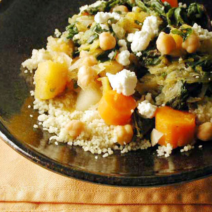 Winter Vegetable Stew over Couscous Recipe