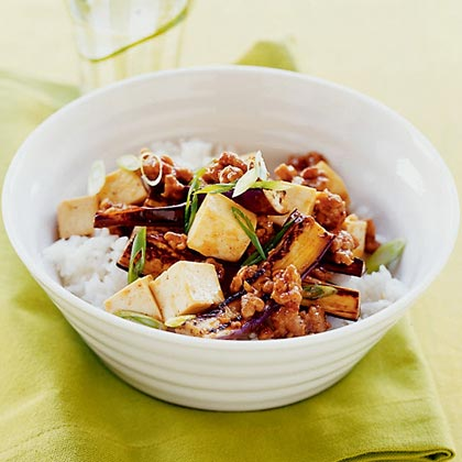 Spicy Eggplant, Pork, and Tofu Stir-fry Recipe