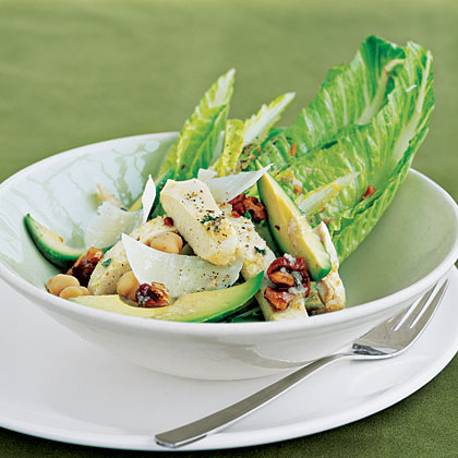 Caesar Salad with Chicken and Avocado