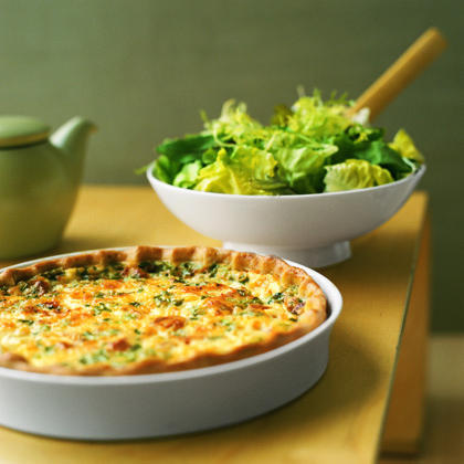 Brunch: Riesling & Roquefort Quiche                            RecipeInvite friends over for casual mid-day brunch and serve quiche with a crisp, refreshing, accessibly priced Washington State Riesling. One of the most versatile, food-friendly whites due to its intrinsic acidity, Riesling can hold its own with the saltiness of the bacon and the overall richness and creaminess of the quiche. Plus, if you're trying to limit the bar cost for the party, hosting during daylight hours is the way to go.