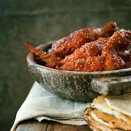Yucatan Chicken in Red Sesame Sauce