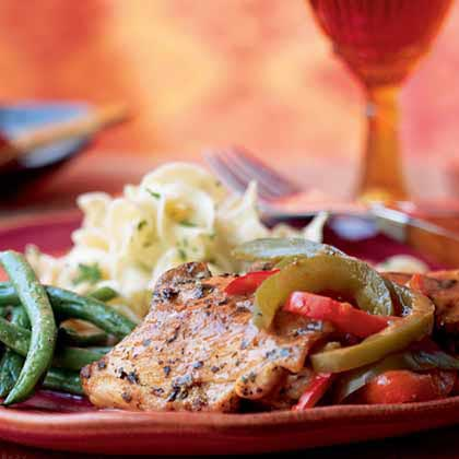 Lemony Spanish Pepper Chicken Recipe
