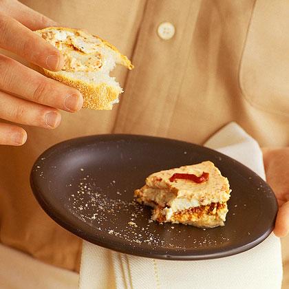 Roasted Pepper Pesto Cheesecake