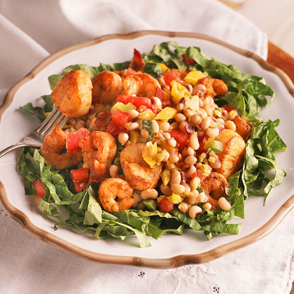 Black-Eyed Pea-and-Seafood Salad Recipe