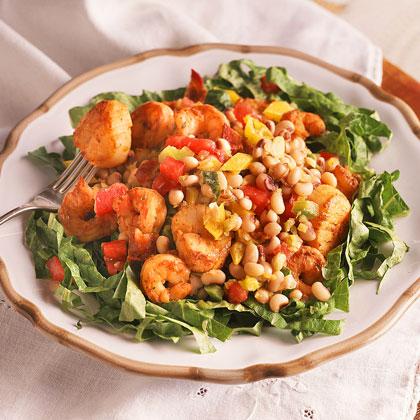 Black-Eyed Pea-and-Seafood Salad