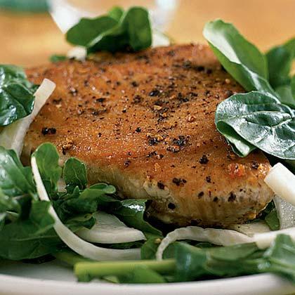 Seared Tuna with Arugula Salad