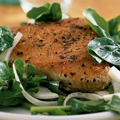 Seared Tuna with Arugula Salad Recipe
