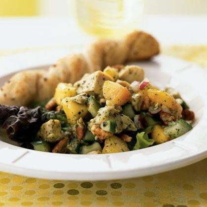 Chicken Salad with Nectarines in Mint Vinaigrette
