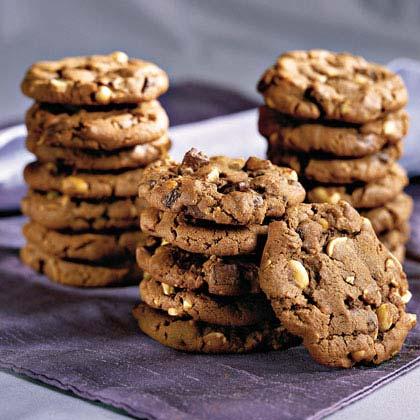 Chocolate Chunk-Peanut Cookies Recipe | MyRecipes