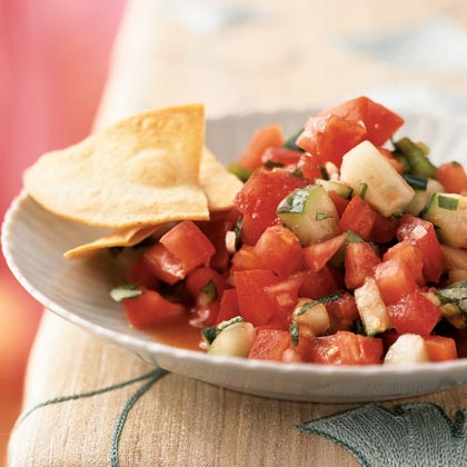 Gazpacho Salad with Tomato Vinaigrette