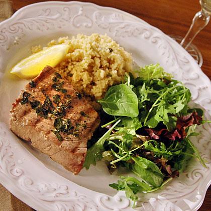 <p>Greek Tuna Steaks</p>