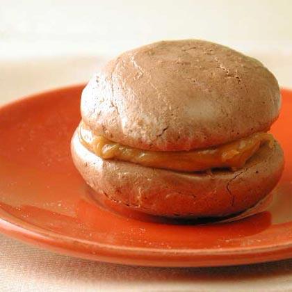 Peanut Butter-Chocolate Meringue Sandwiches