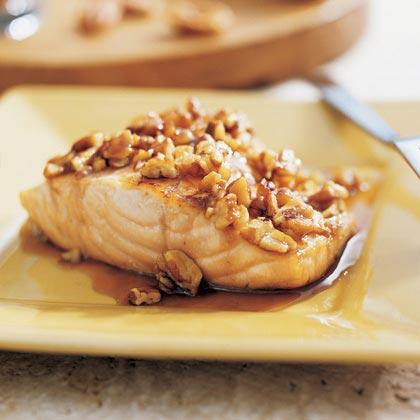Praline-Glazed Salmon
