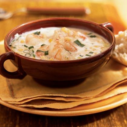 Creamy Shrimp and Corn Bowl