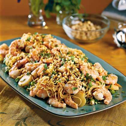 Asian Shrimp With Pasta